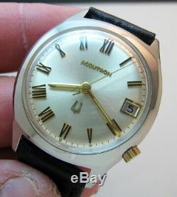 Serviced 2181 Accutron Bulova Stainless Steel Tuning Fork Men's Watch N1