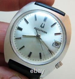 Serviced 2181 Accutron Bulova Stainless Steel Tuning Fork Men's Watch N2