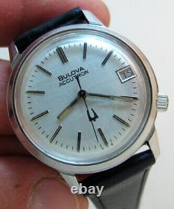 Serviced 2181 Accutron Bulova Stainless Steel Tuning Fork Men's Watch N6