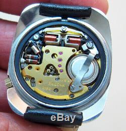 Serviced 2182 Accutron Bulova Stainless Steel Tuning Fork Men's Watch N1