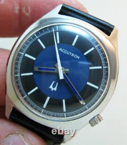 Serviced 218 Accutron Bulova Stainless Steel Tuning Fork Men's Watch M5