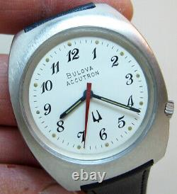 Serviced 218 Accutron Bulova Stainless Steel Tuning Fork Men's Watch N3