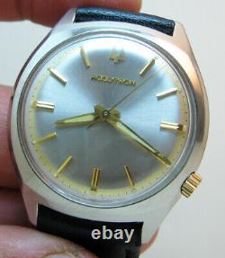 Serviced 218 Accutron Bulova Stainless Steel Tuning Fork Men's Watch N6