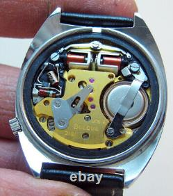 Serviced 218 Accutron Railroad Bulova Stainless Steel Tuning Fork Men's Watch N4