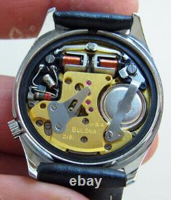 Serviced 218 Accutron Railroad Stainless Steel Tuning Fork Men's Watch M7