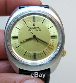 Serviced 219 Accutron Bulova Stainless Steel Tuning Fork Men's Watch N7