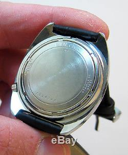 Serviced Accuaquartz 2241 Accutron Stainless Steel Tuning Fork Mens Watch N7