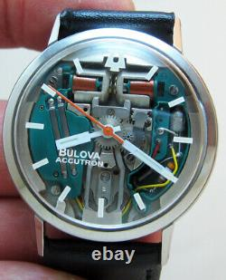 Serviced Accutron 214 Bulova Spaceview Stainless Steel Tuning Fork Men Watch M3