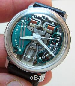 Serviced Accutron 214 Bulova Spaceview Stainless Steel Tuning Fork Watch N2