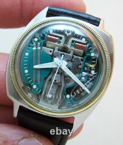 Serviced Accutron 214 Spaceview Stainless Steel Tuning Fork Man's Watch M4