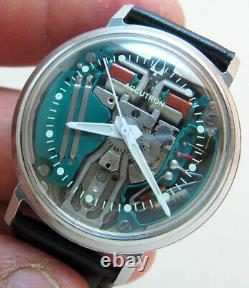 Serviced Accutron 214 Spaceview Stainless Steel Tuning Fork Man's Watch M5