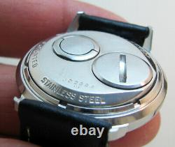 Serviced Accutron 214 Spaceview Stainless Steel Tuning Fork Man's Watch M6