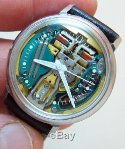 Serviced Accutron 214 Spaceview Stainless Steel Tuning Fork Man's Watch M7