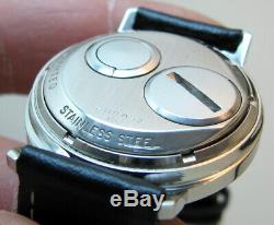 Serviced Accutron 214 Spaceview Stainless Steel Tuning Fork Men Watch M4