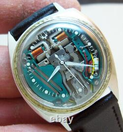 Serviced Accutron 214 Spaceview Stainless Steel Tuning Fork Men Watch M7