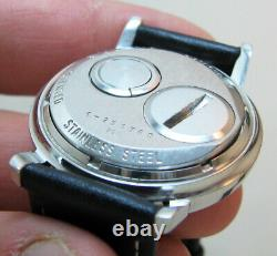 Serviced Accutron 214h Bulova Spaceview Stainless Steel Tuning Fork Men Watch M4