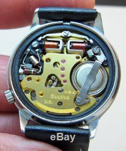 Serviced Accutron 2181 Bulova Stainless Steel Tuning Fork Men's Watch N6