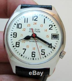 Serviced Accutron 2181 Railroad Stainless Steel Tuning Fork Men's Watch M7