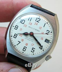 Serviced Accutron 2181 Railroad Stainless Steel Tuning Fork Men's Watch M9