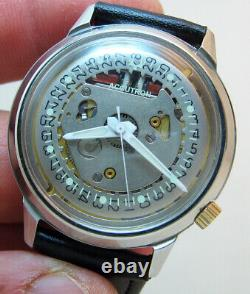 Serviced Accutron 2181 Spaceview Crystal Stainless Steel Tuning Fork Watch M5