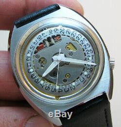 Serviced Accutron 2181 Spaceview Crystal Stainless Steel Tuning Fork Watch M7