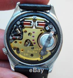 Serviced Accutron 2181 Spaceview Crystal Stainless Steel Tuning Fork Watch N2