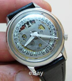 Serviced Accutron 2181 Spaceview Crystal Stainless Steel Tuning Fork Watch N7