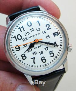 Serviced Accutron 2181f Railroad Stainless Steel Tuning Fork Men's Watch M7
