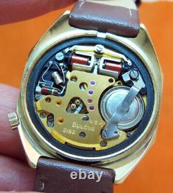 Serviced Accutron 2182 Bulova Heavy Gold Electroplate Tuning Fork Men's Watch N2