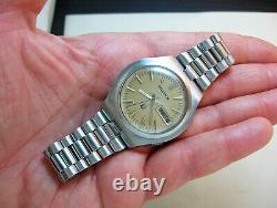 Serviced Accutron 2182 Bulova Stainless Steel Tuning Fork Men's Watch N1