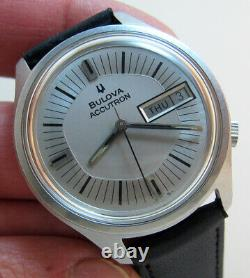 Serviced Accutron 2182 Bulova Stainless Steel Tuning Fork Men's Watch N7