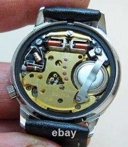 Serviced Accutron 218 Spaceview Crystal Stainless Steel Tuning Fork Watch N6