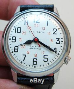 Serviced Accutron 218d Railroad Stainless Steel Tuning Fork Men Watch M6