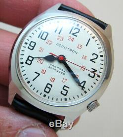 Serviced Accutron 218d Railroad Stainless Steel Tuning Fork Men Watch M7