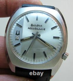 Serviced Accutron 2240 Accuquartz Stainless Steel Tuning Fork Men's Watch N2