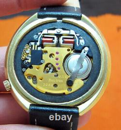 Serviced Accutron 2242 Accuquartz Cold Electroplate Tuning Fork Men's Watch N3