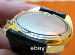Serviced Accutron Astronaut Mark 2185 Gold Electroplate Tuning Fork Men Watch N0