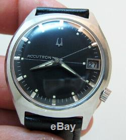 Serviced Accutron Bulova 2181 Stainless Steel Tuning Fork Mens Watch M9