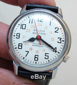 Serviced Accutron Bulova 218 Railroad Stainless Steel Tuning Fork Men Watch M6