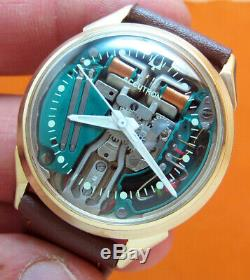 Serviced Bulova Accutron 214 Spaceview 10kt. Gold Filled Tuning Fork Watch M8