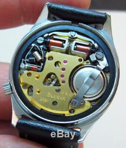 Serviced Bulova Accutron 2181 Railroad Stainless Steel Tuning Fork Men Watch M5