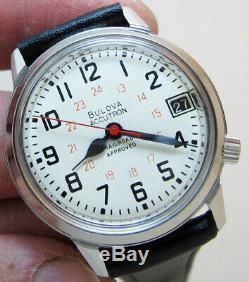 Serviced Bulova Accutron 2181 Railroad Stainless Steel Tuning Fork Men Watch N6