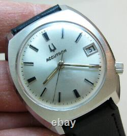 Serviced Bulova Accutron 2181 Stainless Steel Tuning Fork Men Watch N3