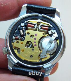 Serviced Bulova Accutron 2182 Stainless Steel Tuning Fork Men's Watch N7