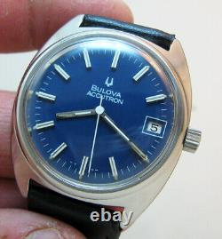 Serviced Bulova Accutron 218d Stainless Steel Tuning Fork Men's Watch N4