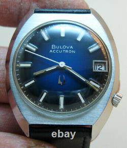 Serviced Bulova Accutron 218d Stainless Steel Tuning Fork Men's Watch N6