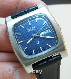 Serviced Bulova Accutron 2303 Stainless Steel Tuning Fork Unisex Watch N3