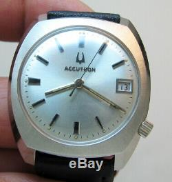 Serviced Vintage 2181 Accutron Bulova Stainless Steel Tuning Fork Mens Watch M7