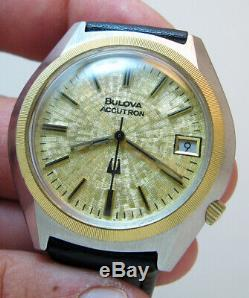 Serviced Vintage 2181 Accutron Bulova Stainless Steel Tuning Fork Mens Watch N0