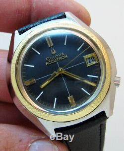 Serviced Vintage 2181 Accutron Bulova Stainless Steel Tuning Fork Mens Watch N7